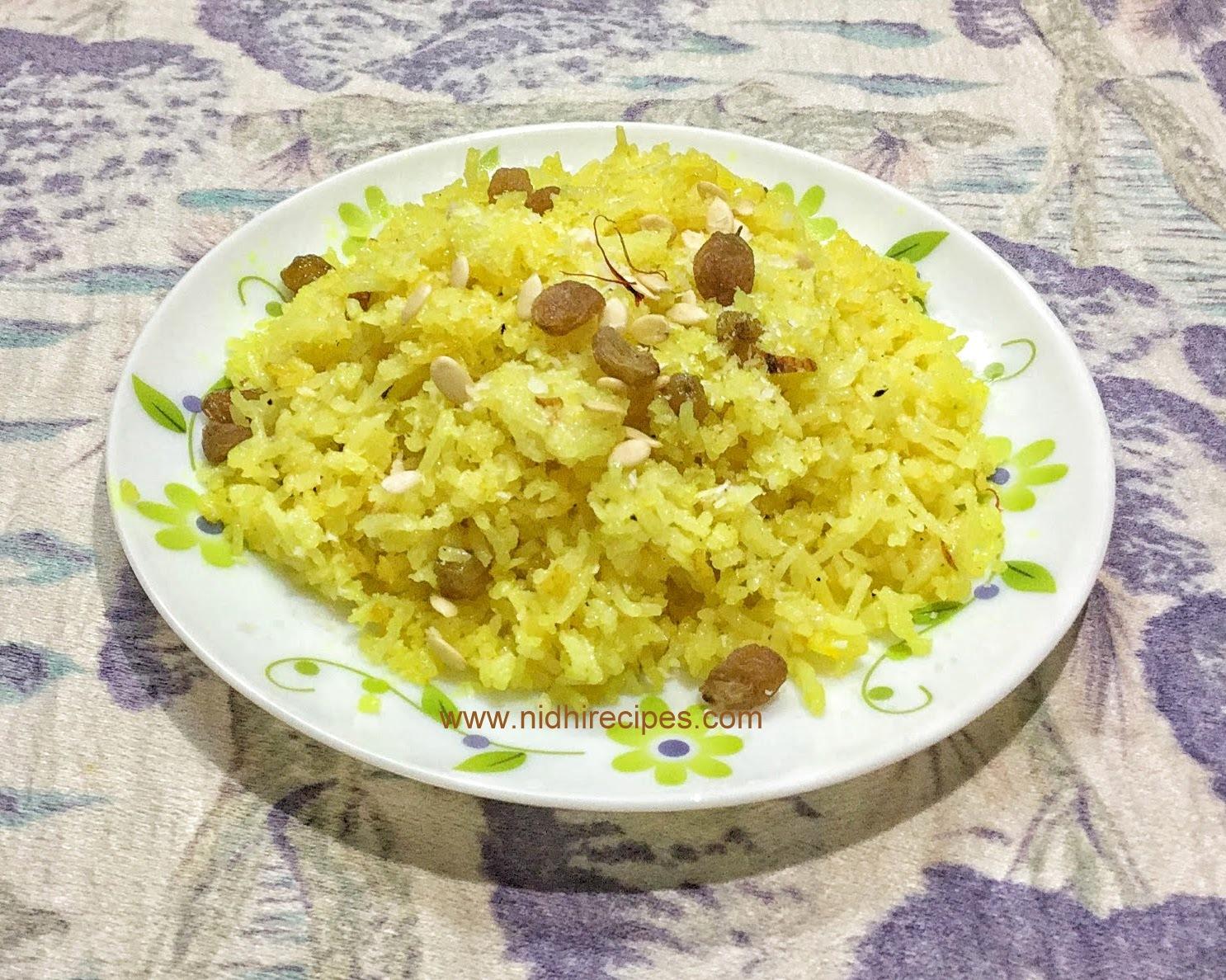 Sweet Kesar Rice